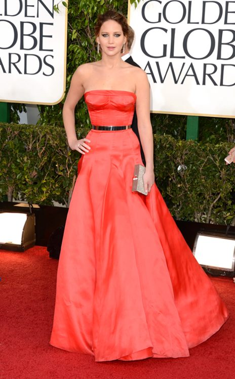 Jennifer Lawrence wearing Dior Haute Couture